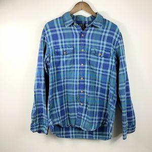 J Crew Sporting Goods Plaid Blue Longsleeve Shirt